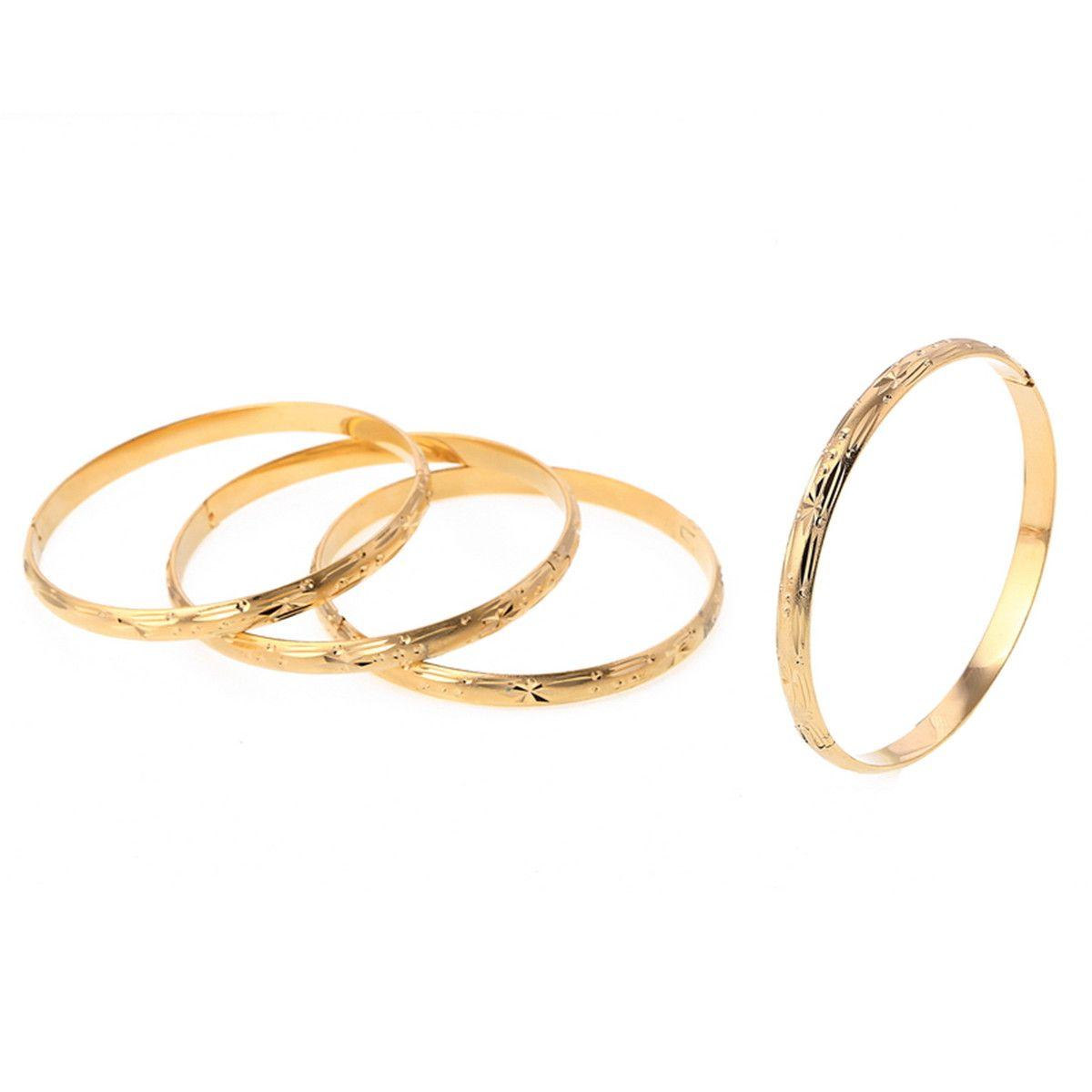 24K Plaqué Or Dubaï Bracelets Bracelet de mariage de mariée africaine européenne-Ethiopie