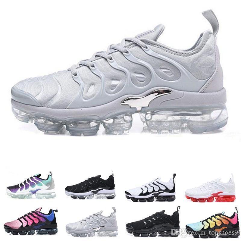 2020 Designer TN Plus-Olive In Metallic Weiß Silber Colorways Schuhe Herrenschuhe Für Trainer-Pack Triple Black Mann Mode Laufen