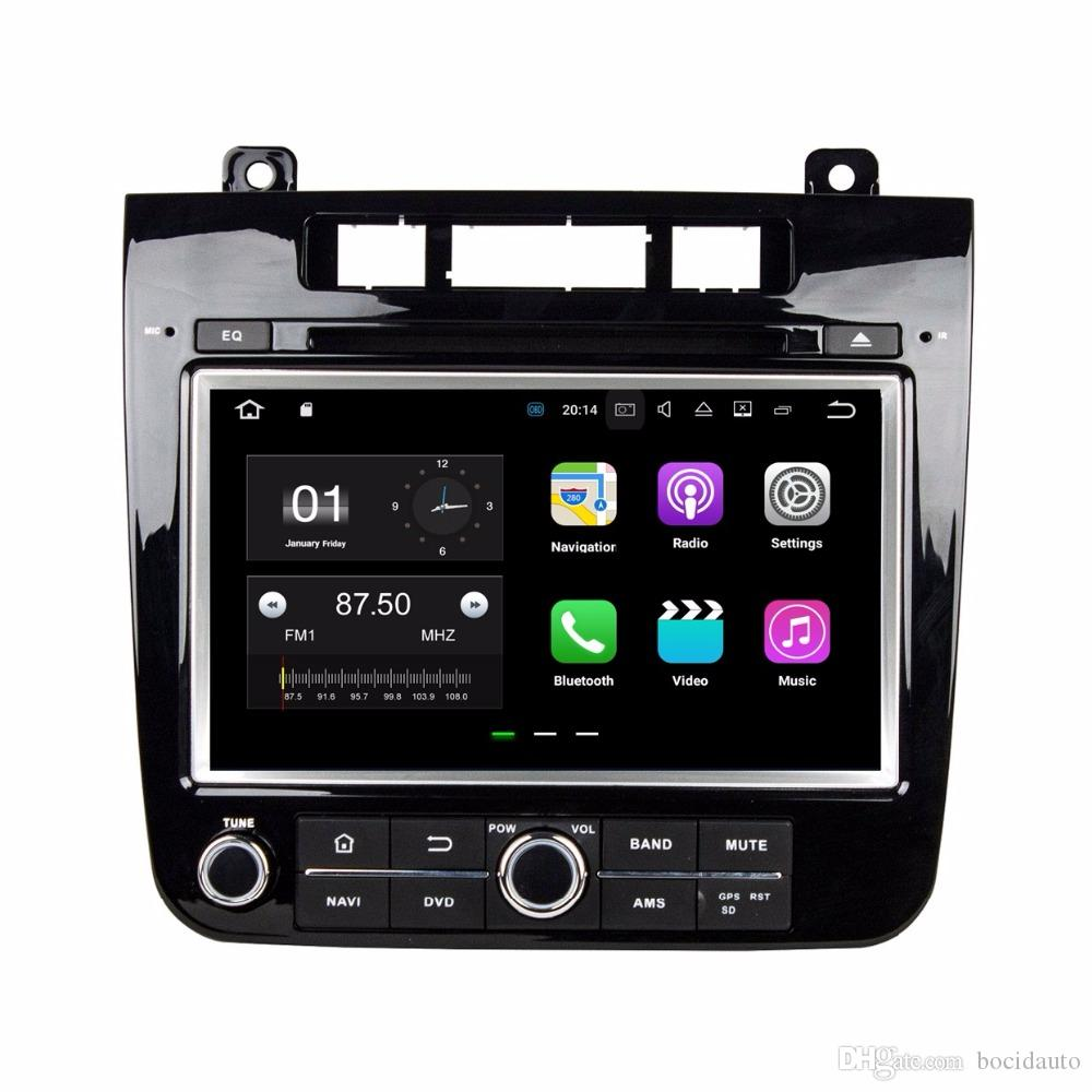 "DVD da 2 DIN 8 ""per auto Volkswagen Touareg DVD VW per auto Volkswagen Touareg 2010-2014 con 2 GB di RAM Bluetooth WIFI Mirror-link"