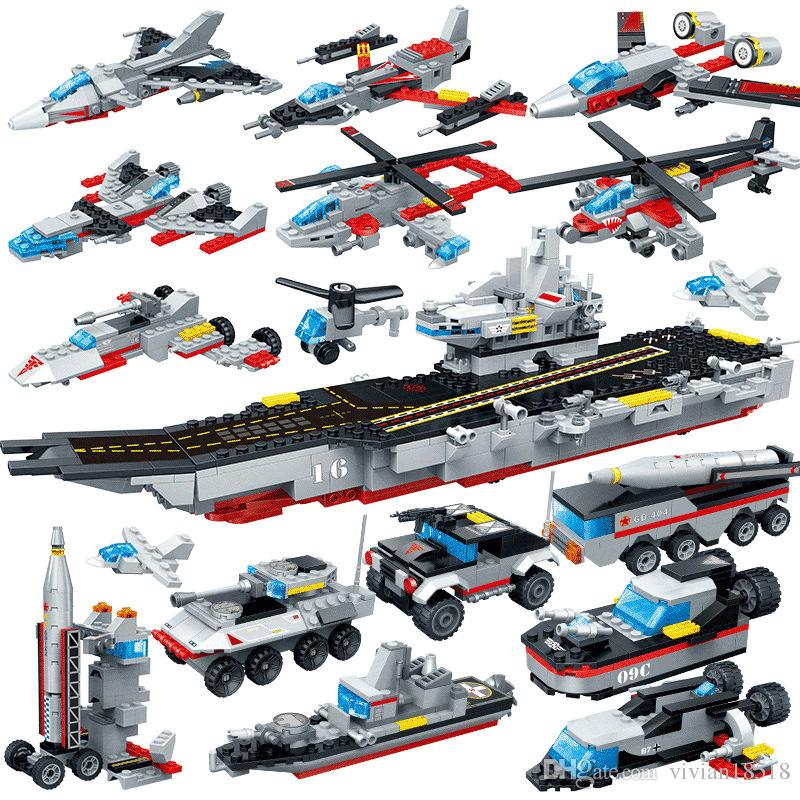 Nuclear-powered aircraft carrier 8709 eighty-eight warships puzzle gift children's students assembled building blocks educational toys ABS s