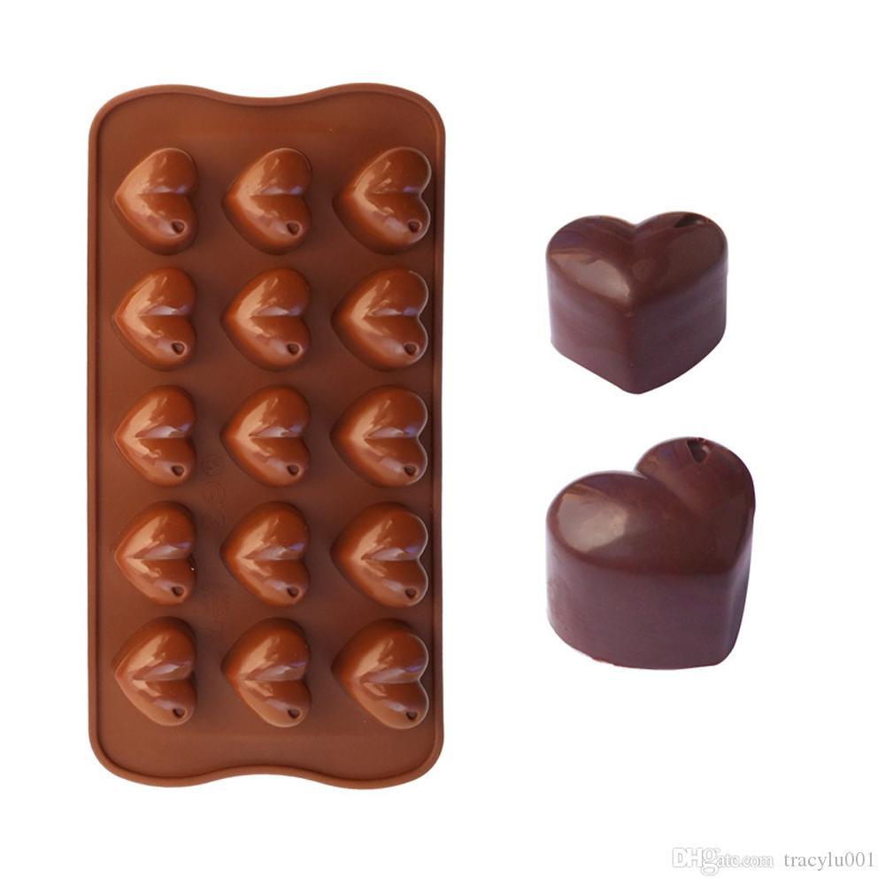 3D Heart Form Silicone Mold Ice Cube Chocolate Soap Fondant Jelly Tray Loving Heart Moulds Kitchen Baking Cake Decorating Tools