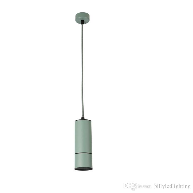 Hotel Hall Shop Commercial LED Pendant Lamp 12 Wattage Cannular TUBE Modern Pipe Pendant Lamp Green Color Newest