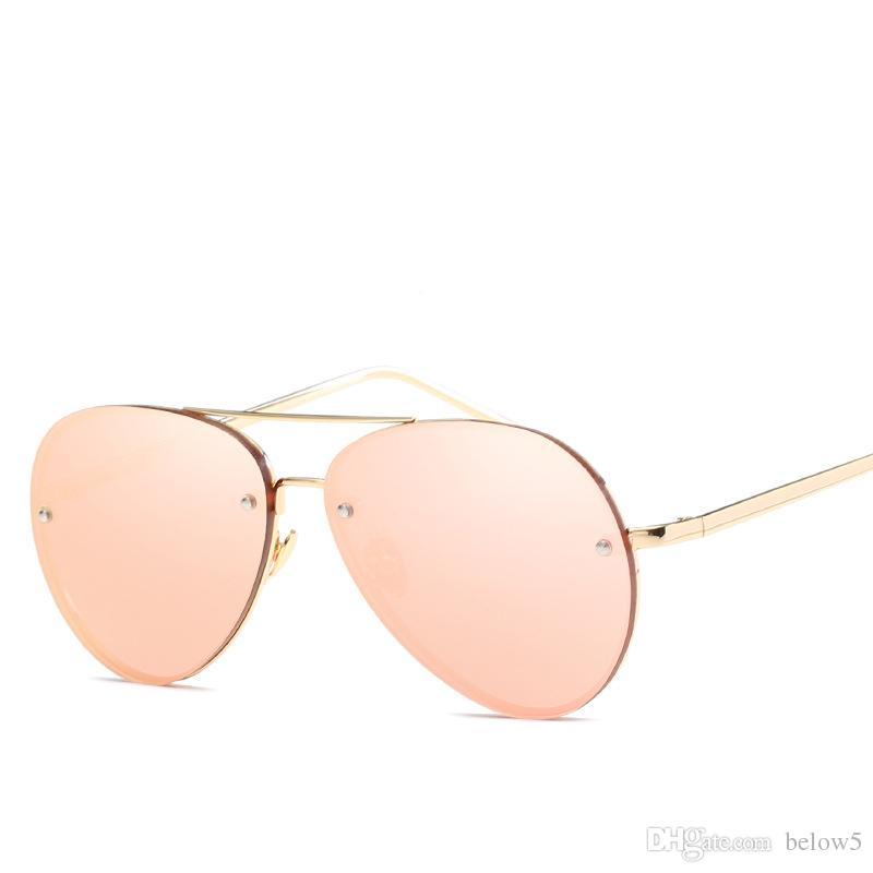 2019 Yeni moda Yüksek Kalite Güneş Erkekler Marka Tasarımcısı Sunglass Kadınlar Pembe UV400 vintage Güneş Gözlükleri