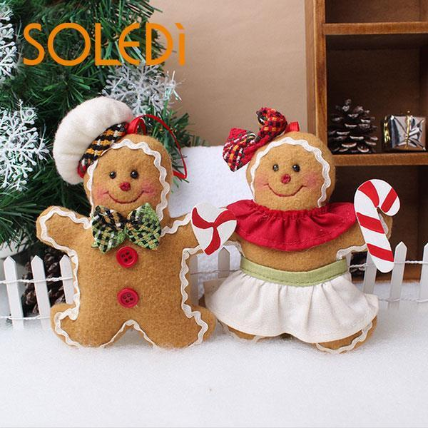 Fashion Christmas Festive Holiday Home Decoration Gingerbread Man Doll Tool D18110704 Christmas Lawn Decorations Christmas Lawn Ornaments From