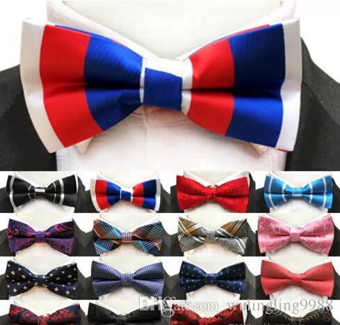 Men Bow Ties Luxury Wedding Formal Cravat British Style Gentleman England Man Neck Tie Suit 23 Colors Prom Accessories Retro Necktie