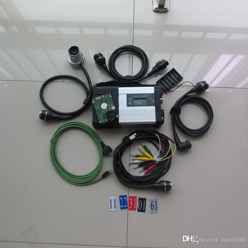 para mb estrela automotivo varredura ferramenta sd c5 conexão de diagnóstico com o mais novo 320GB hdd janelas do sistema 7 para mb mercedes ferramentas