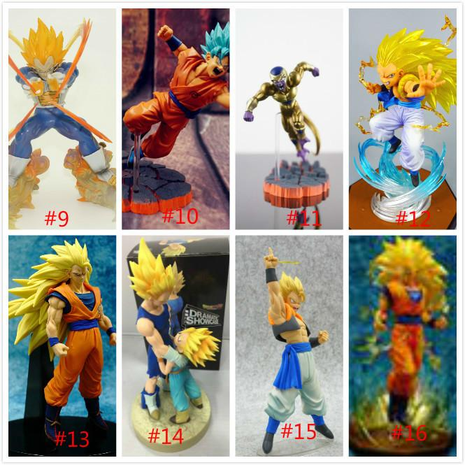 Dragon Ball Z Vegeta Trunks Son Goku Gohan Cell Frieza PVC Action Figures DRAMATIC SHOWCASE Model Toy Doll Figuras