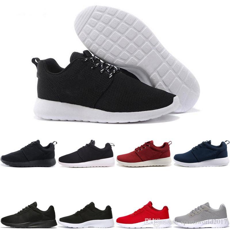 Nike Air Roshe run one Tanjun Новые дешевые оптовые мужчины работают 3 кроссовки Черные белые синие низкие сапоги Легкий дышащий лондонский олимпийский тренер мужской тапочки EUR 36-45
