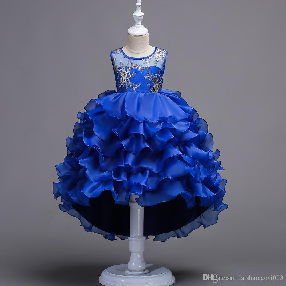Großhandel Mädchen Kleid 2018 ärmelloses Kind Kleider Mädchen Kleidung Party Prinzessin Vestidos Nina 5 6 7 8 Jahre Geburtstag Kleid Weihnachten Taufe