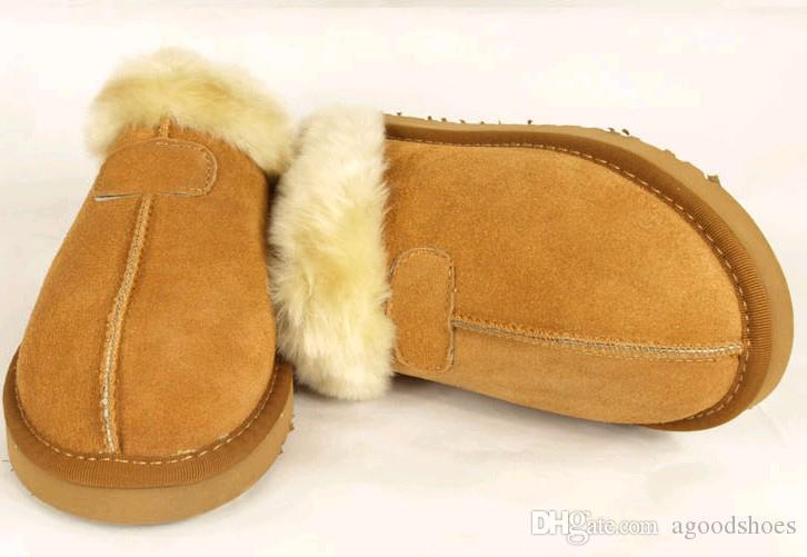 Chaud! Pantoufles en coton chaudes et de haute qualité Pantoufles pour hommes et femmes Bottes courtes