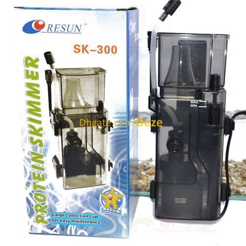 Resun SK-300 3.5W 300L / H Aufhängerückseite Eiweißabschäumer für 95L Nano Marine Quarantäne Salzwassertankpumpen