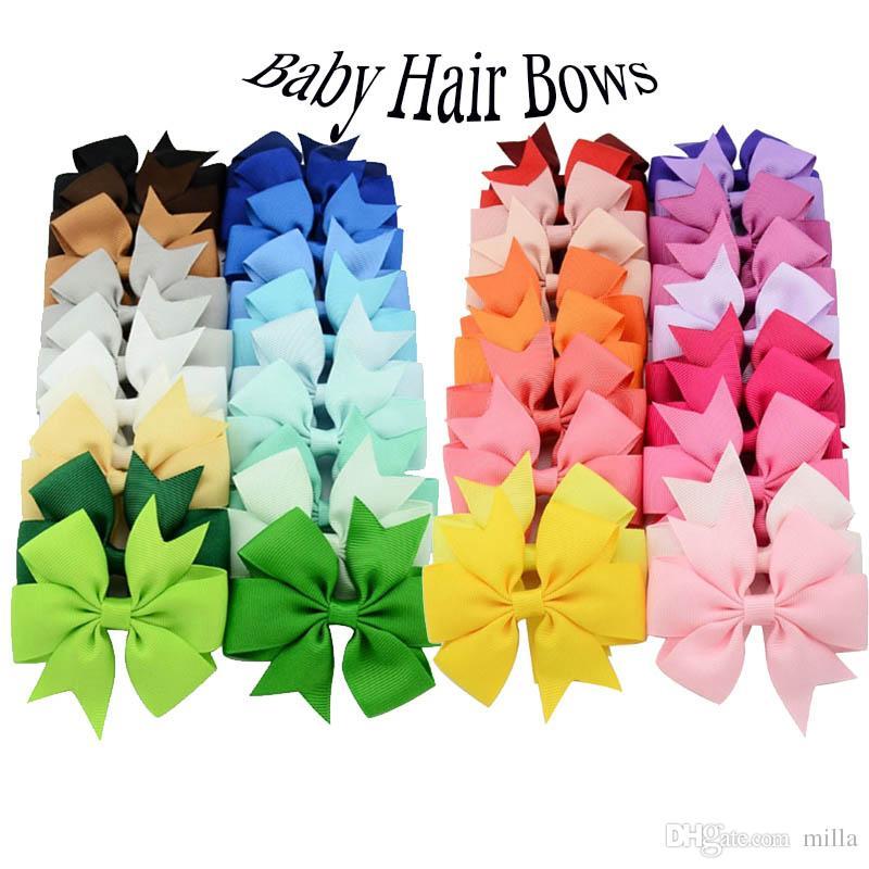 2018 Archi per capelli per bambine Fasce per capelli per capelli in alligatore 40 colori