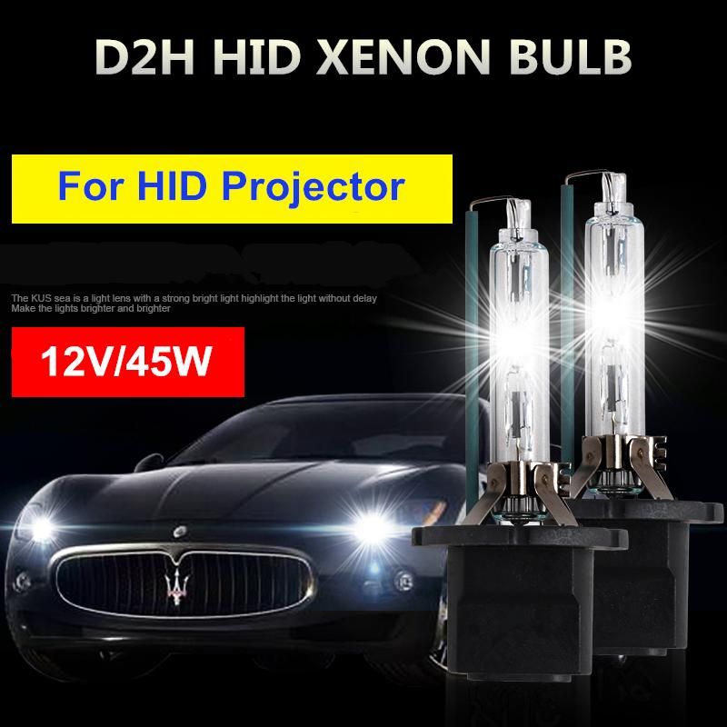 New High Bright D2H 12V 45W 6000K Xenon HID bulb More Bright lumens for Car Auto Headlight Light Projector free shipping
