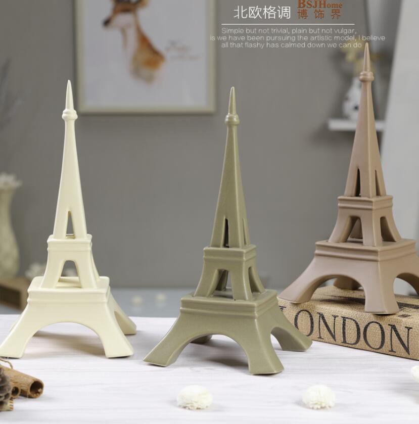 Minimaliste en céramique creative Paris Tour Eiffel Design home decor artisanat chambre mariage décoration artisanat figurines