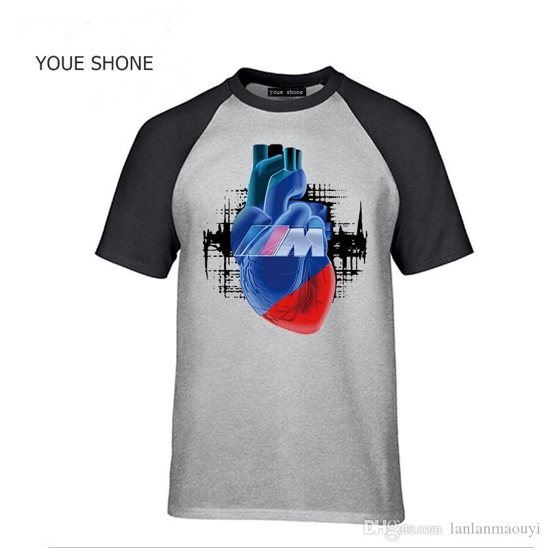 Fashion brand design Car Tshirt M Power Logo Auto Auto Blut Manner T-Shirt stampata Hip-Hop Tee Tops pullover Uomo Cool cotone T-shirt TT