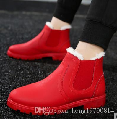 Martin hommes bottes hiver garder au chaud Martin hiver bottes hommes chaussures mode bottes en caoutchouc taille 39-44