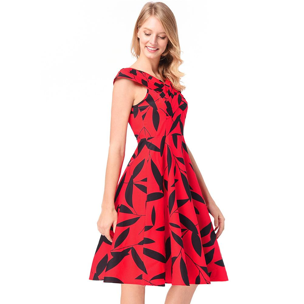 Sleeveless dress New style Women's dress European and American style Little Red skirt in Spring