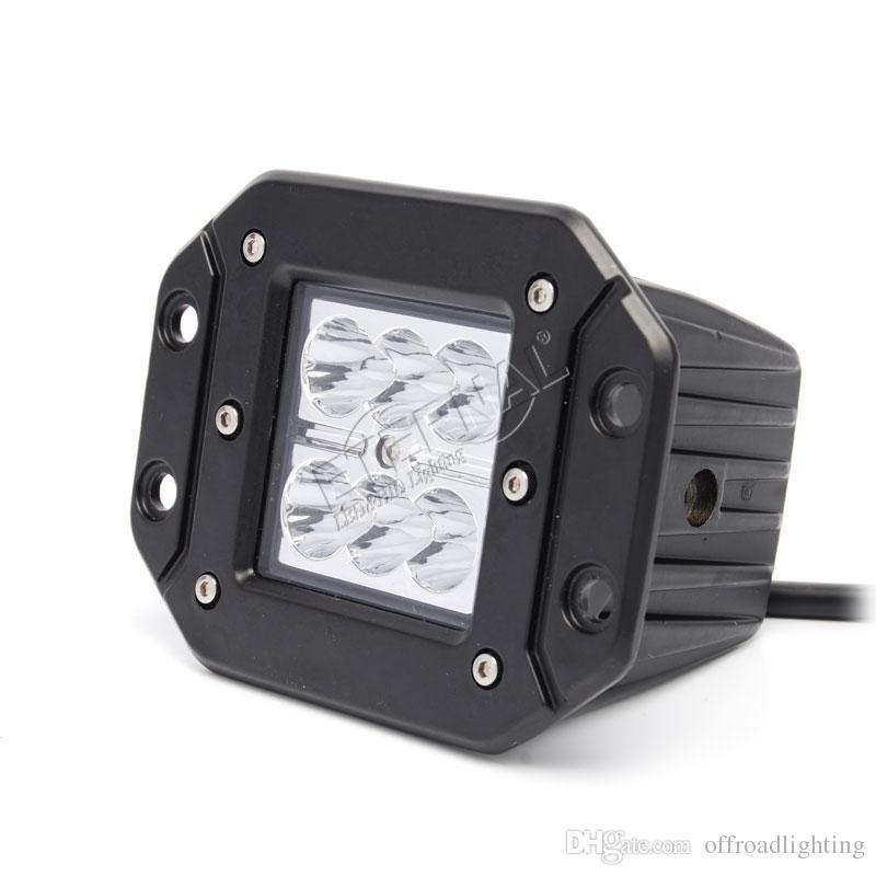 20pc 18W LED-Lichtnebellampe Arbeit für Motorrad Automotive ATV UVT Jeep Geländewagen LKW LED-Arbeitslicht mit bündigem Einbau vor Ort Flut