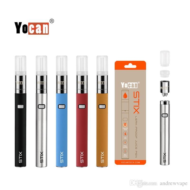 Authentische Yocan Stix Vape-Kits 320mAh-VV-Batterie-Saft-Stift 0.6ML-Kartuschen auslaufsicherer Verdampfer-Spulen