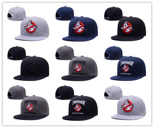 2018 New Brand Street Dance Cool Hip Hop Caps Ghostbusters Snapback Snap Back Berretti da baseball Cappelli Bone Hat Spedizione gratuita