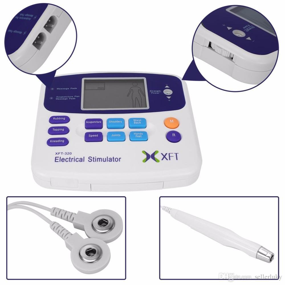 المهنية XFT-320 الكهربائية مشجعا مدلك آلة مزدوجة عشرات تدليك رقمي الاسترخاء الجسم