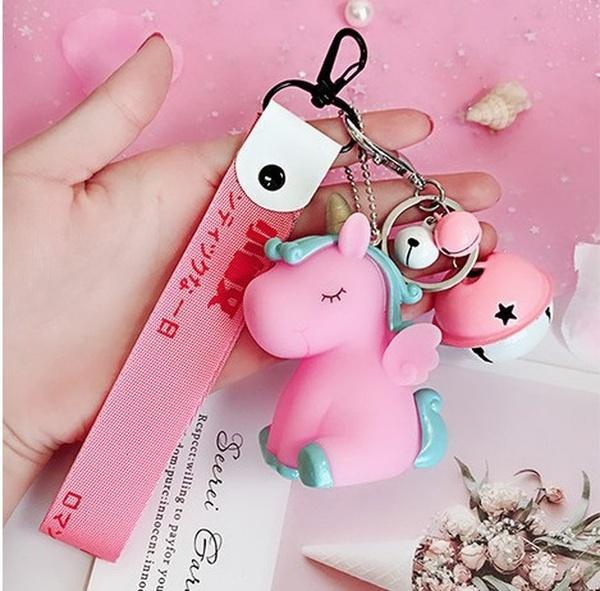 Unicorn Bilek Bandı Anahtar toka Çanta Çift kolye Örme Halat Hediye Aranan Anahtar toka 2019 Narin ve güzel rüya Pony BB