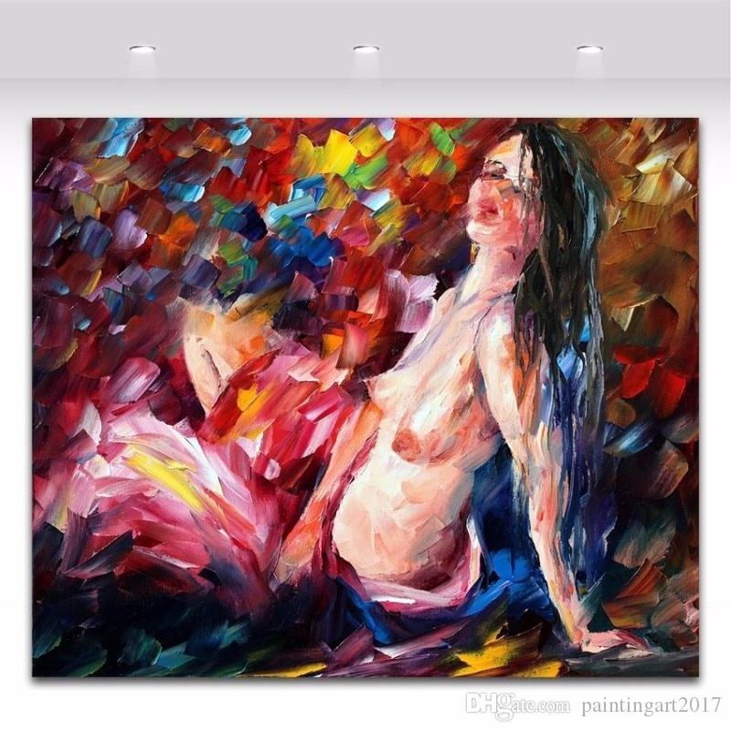 2020 Handmade Palette Knife Oil Painting On Canvas Nude Painting Naked Woman Body Art Picture Wall Art Decoration From Paintingart2017 34 83 Dhgate Com