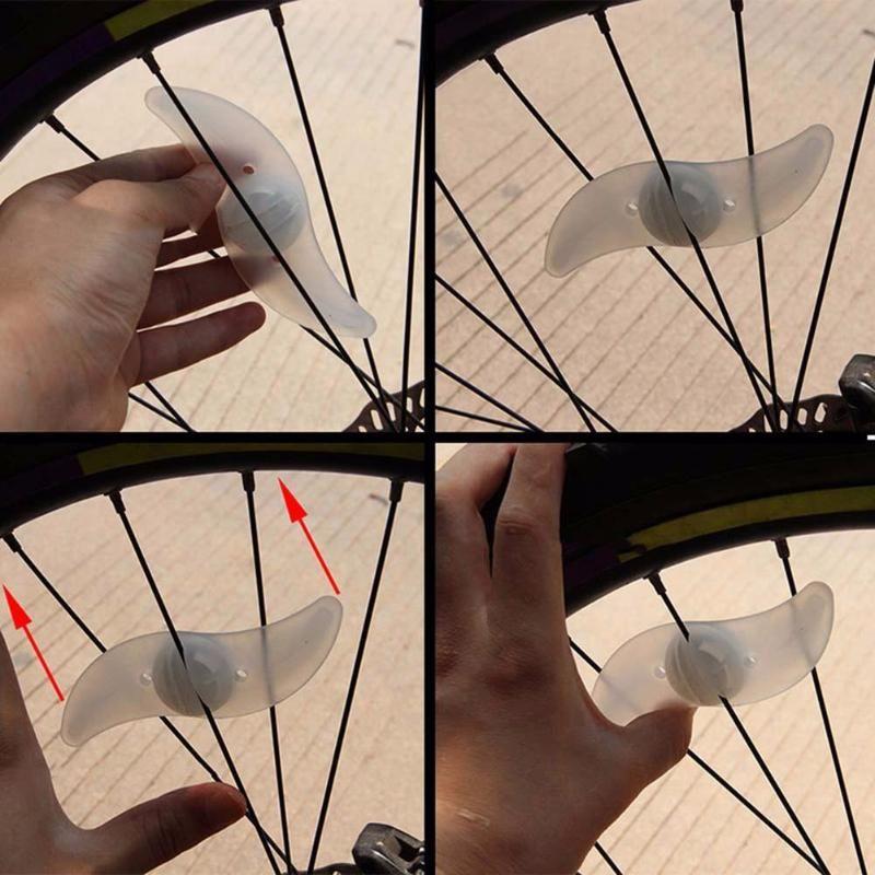 Аксессуары для велосипеда Willow Форма водить велосипед спиц горы Велосипед лампы Свет Запуск велосипед свет Красный Синий Зеленый