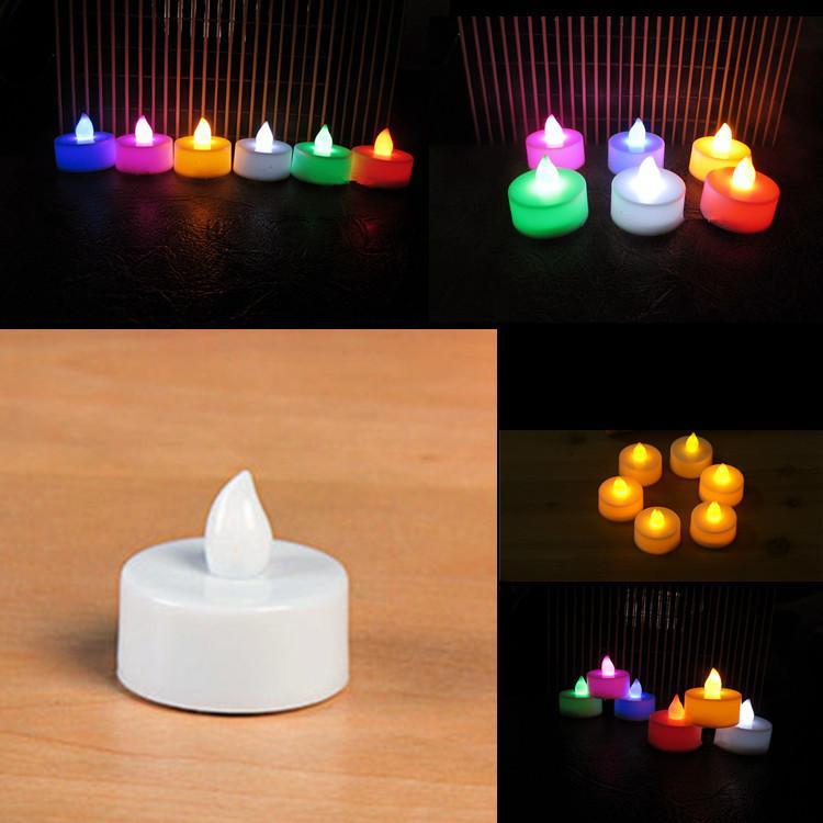 Fabrik Direkte leichte Kerze, elektronische Kerze LED, kleines Teewachs, bunte leuchtende Tee-Lampe, Weihnachtsdekoration, Hochzeit.