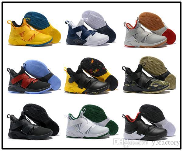 avec la boîte d'usine magasin vendant directement 2018 soldats bon marché de sport pour hommes 12 chaussures de basket-ball Numéro 23 enlistee Elite Sport Chaussures de sport EU46