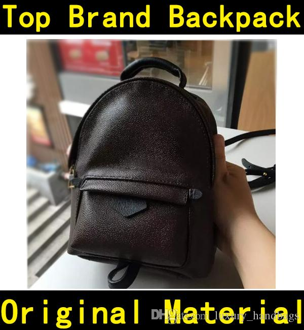 Double shoulder strap backpack high quality flower printing genuine leather Handbags kids children backpacks school bag 41560 41561