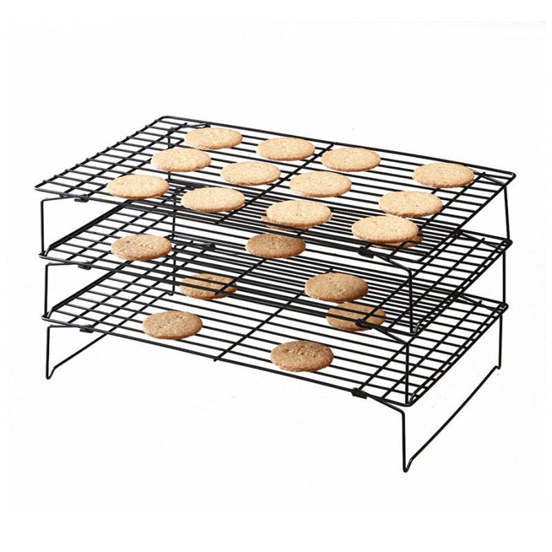Hoomall Kitchen Pastry Rack di raffreddamento antiaderente Cake Cake Cookies Bread Bakeware Stainless Steel Marca 3Layers Inserti di cottura Stand