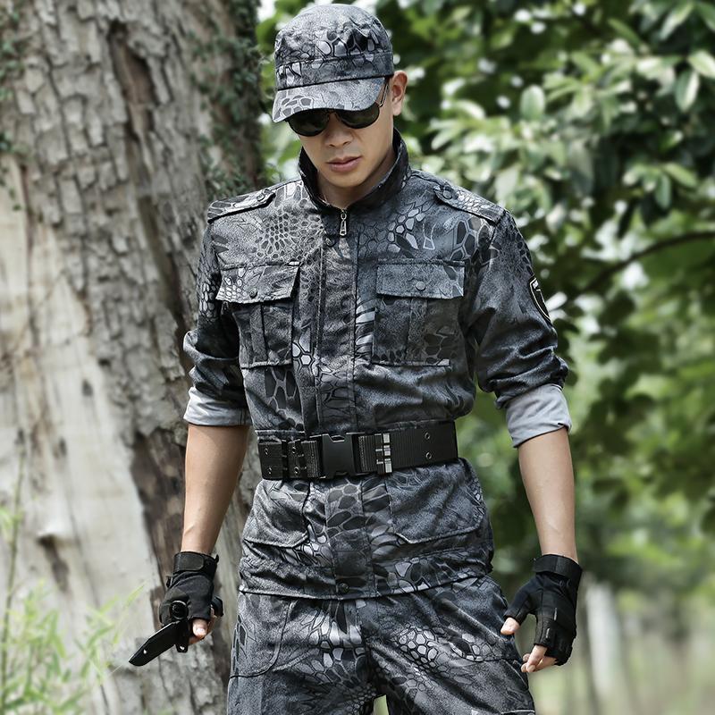 Camouflage Suit Army Tactical Suits Mens Jacket + Pant Swat Work Clothes Field Train Combat Camo Suit