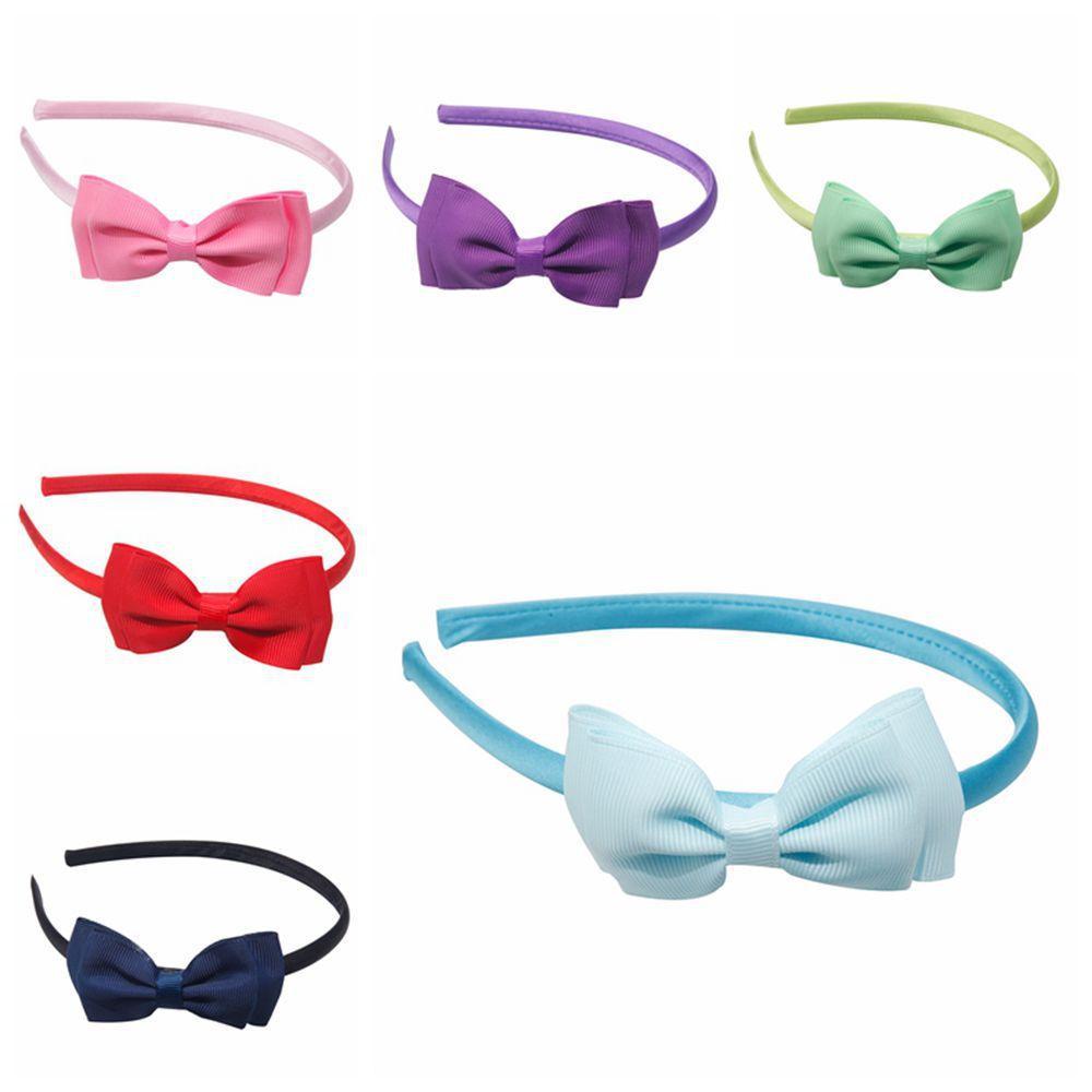 1 pcs 2017 nova venda quente cores sólidas duplo bonito arcos de cabeça crianças hoop acessórios para o cabelo headwear