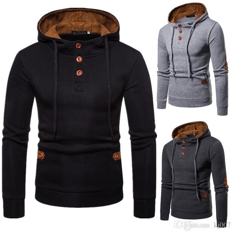 Hoodies Free Shipping Men Sweatshirts New Brands Hoodies Coat Winter Sweaters Pullover Sweater Fashion Man Clothing Unique Zipper Design