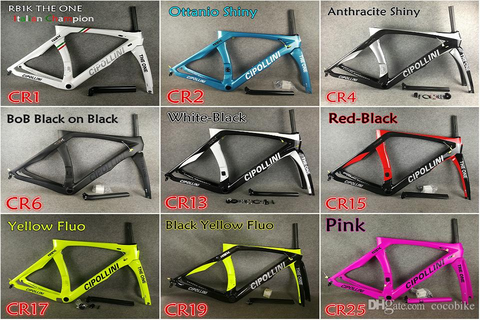 24 Colors for selection T1000 UD/3K/1K 2018 Mcipollini RB1K THE ONE carbon road frames with BB86 Matte/Glossy free shipping