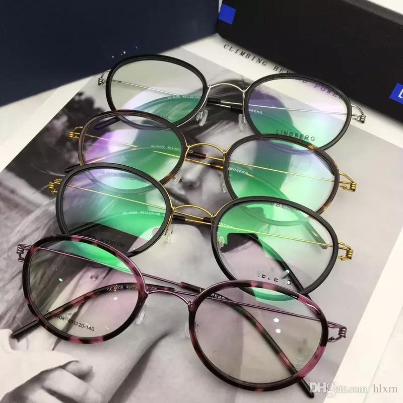 Марка Desgin-2018 новых мужские очки кадр 6008 размера 49-20-140 безвинтового титан кадр мода супер свет моды