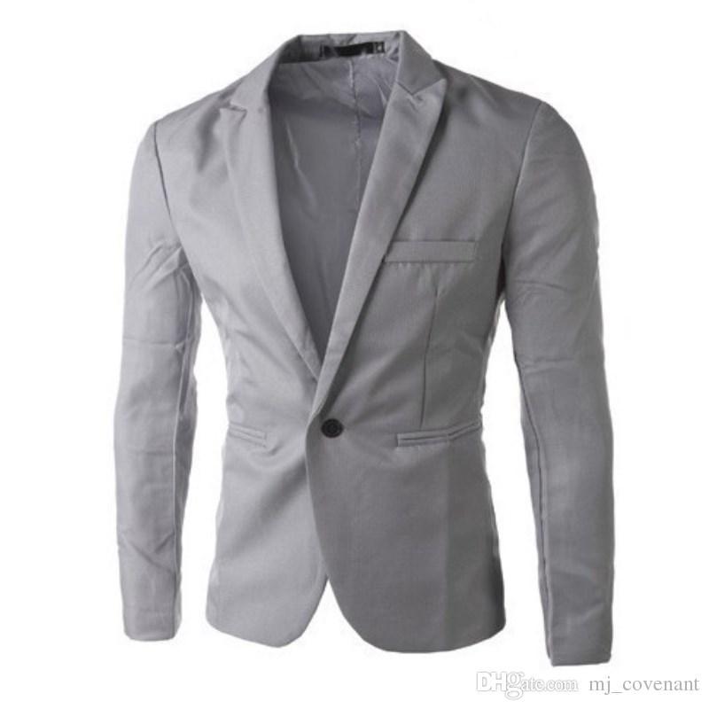 Nuovi uomini della molla Suit Casual Moda coreana Blazer da uomo Slim Fit uomo elegante Business manica lunga monopetto giacche