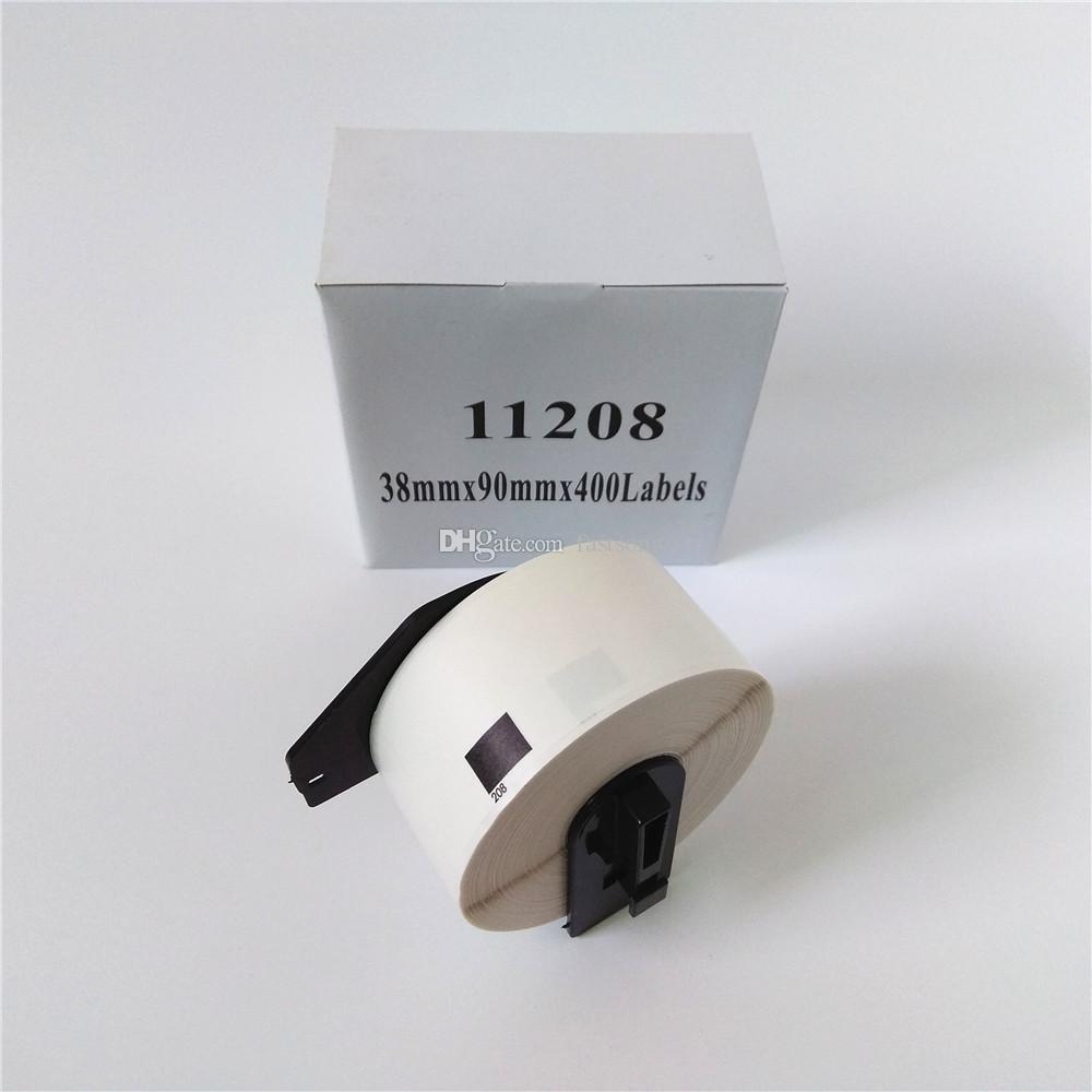 90 x Rotoli Brother DK 11208 DK-11208 DK11208 DK-1208 DK1208 DK 1208 Etichette compatibili 38mm x 90mm QL 570 580 700 1050 1060