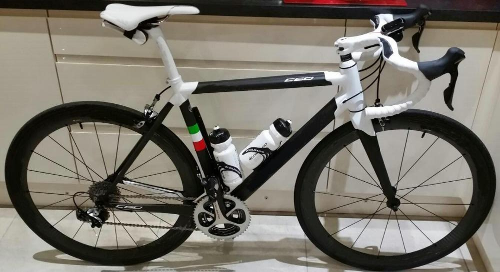 White C60 PLWH Carbon Road Complete Bike With 5800 or R9100 Groupset and other parts
