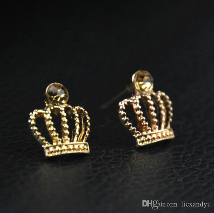 Heißer Verkäufer-Kronen-wirklicher Zirkonia-Ohrring für Mädchen-Schmucksache-Großverkauf 30 Paare Los Freies Verschiffen