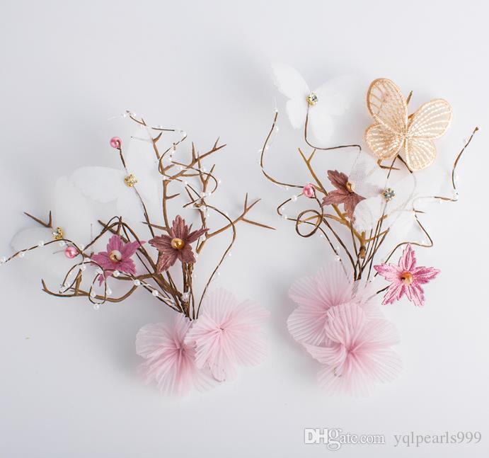Nakrycia głowy Bridal Super bajka suknia ślubna księżniczka słodki kwiat spinki do włosów