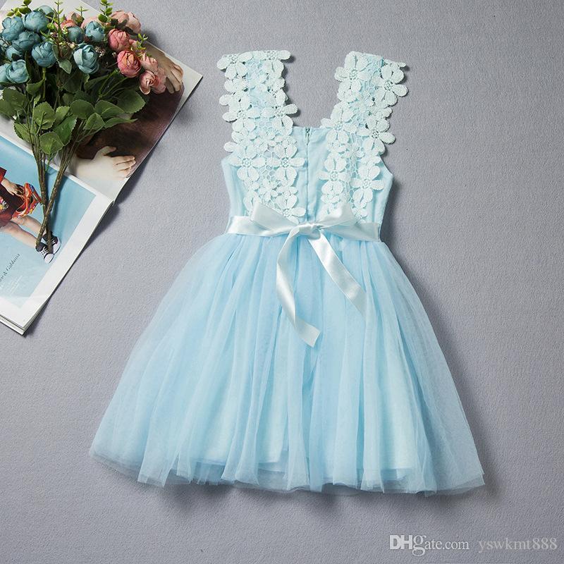 Toddler Baby Kids Girl Sleeveless Floral Party Princess Dress Backless Sundress