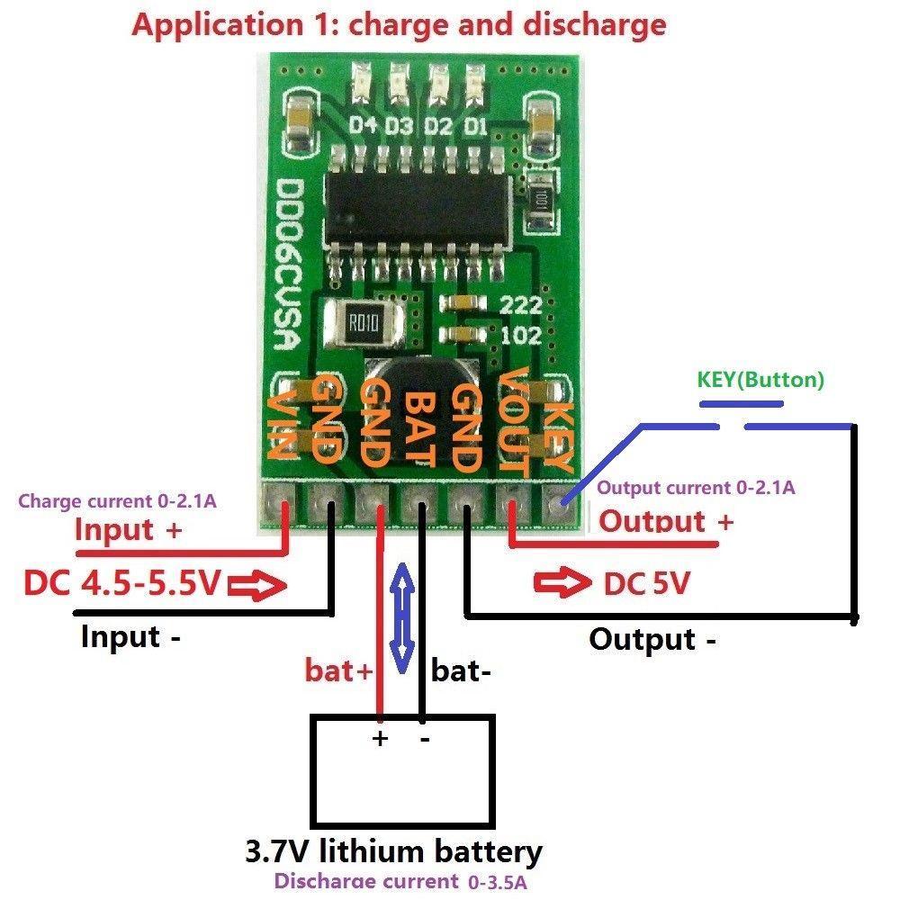 Freeshipping NEW 5V 2.1A تهمة التفريغ دفعة وحدة الطاقة 3.7V 4.2V بطارية ليثيوم أيون 18650 LED