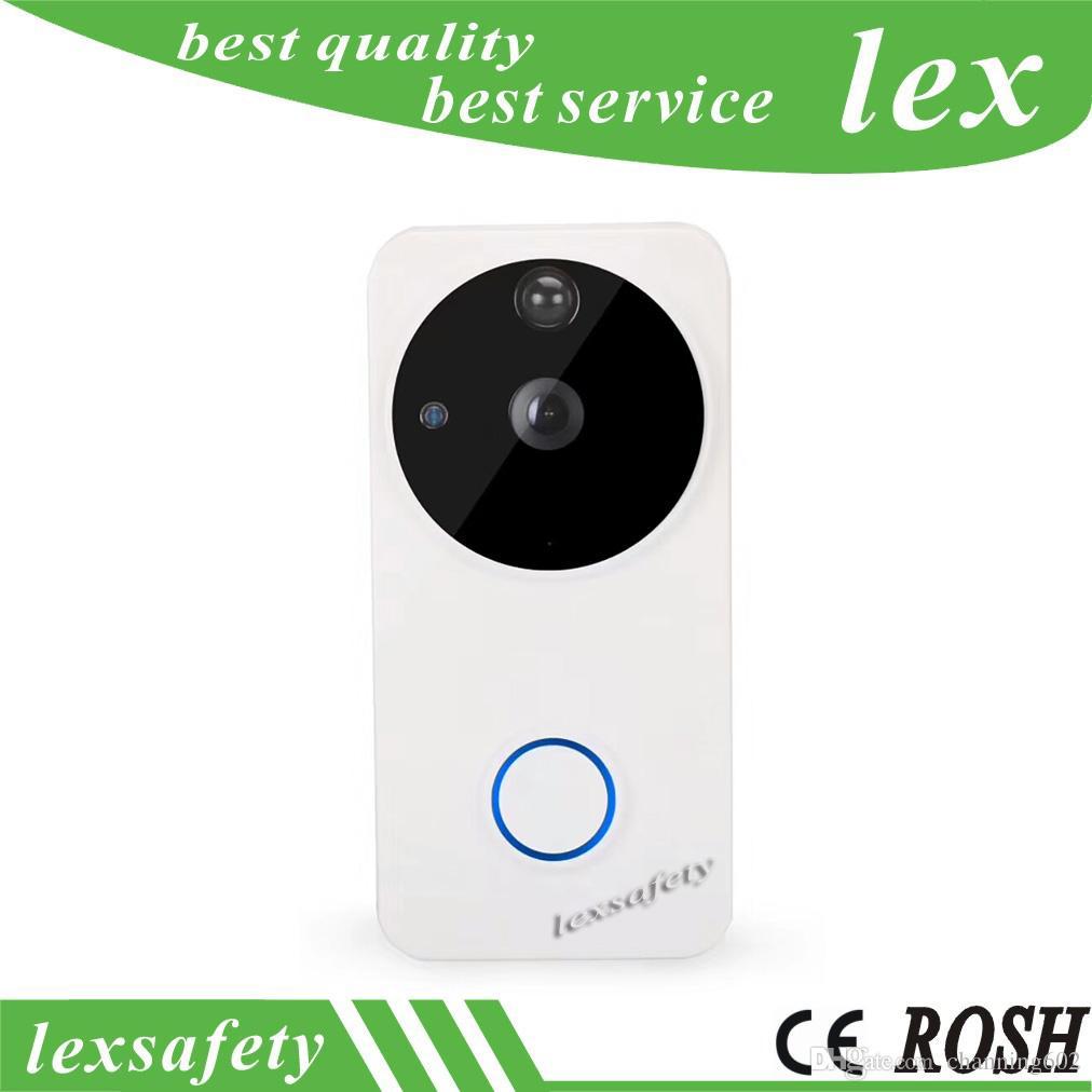 Caméra vidéo 720p sans fil WiFi sonnette, sonnerie bidirectionnelle de sonnerie d'anneau IP IP de contrôle APP Android Android à piles, sonnette Wi-Fi