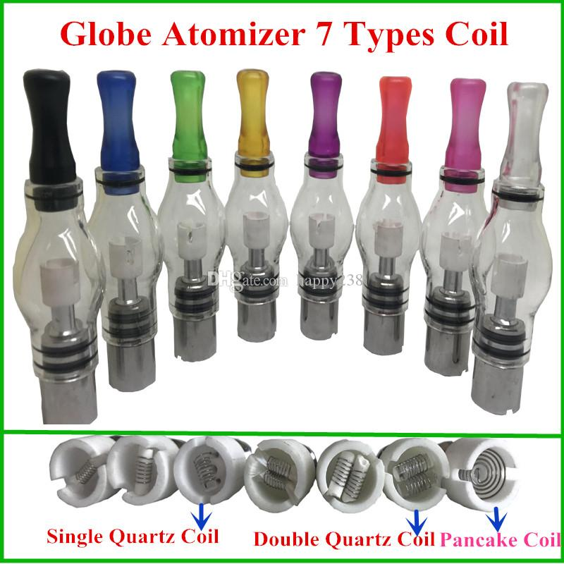 M6 atomizer Wax Coil Quartz dual single coil ceramic Ceramic Cotton Pancake rebuildable Glass globe atomizer 7 types core head vaporizer