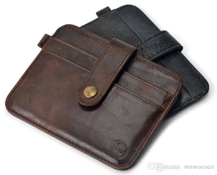 مصغرة بطاقة الائتمان ضئيلة حالة المحفظة إمرأة رجل حامل بطاقة الجلود حالة بطاقة المحفظة المدمجة اللون متنوعة A069