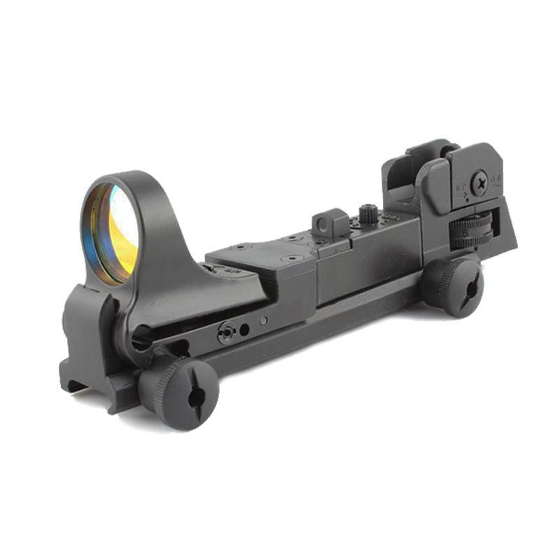 Taktisk C-mer Moa röd dot reflex syn med ar bakjärn sikt integrerad picatinny mount svart