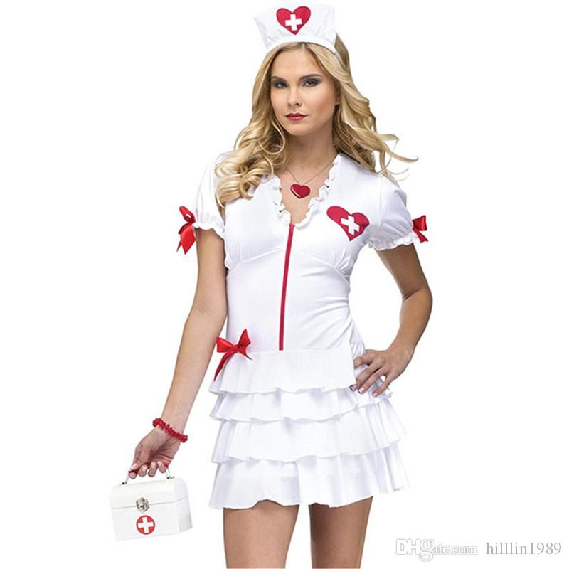 Sexy Nurse Costume Night Bar Clothing Carnival Doctor Cosplay Outfits Short Sleeve Stage Mini Dress Halloween Theme Costume