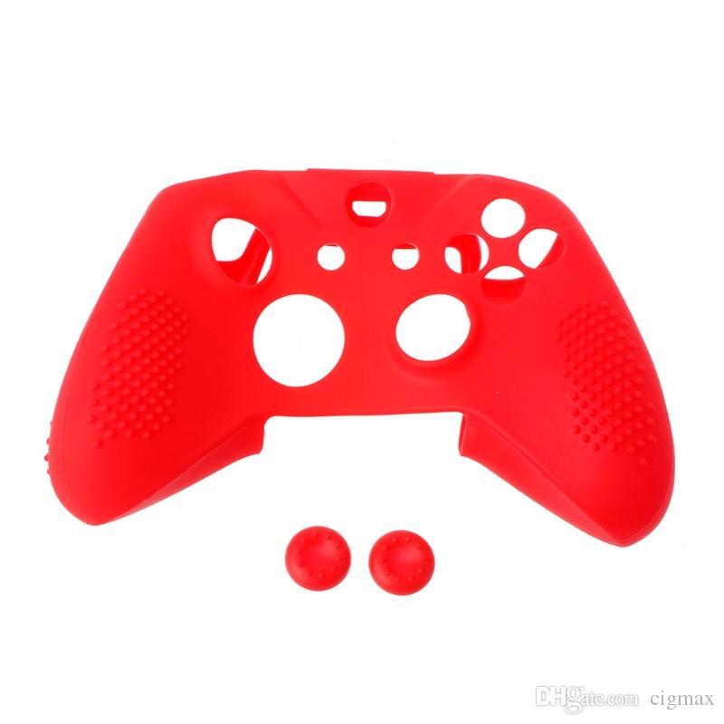 Nuevas tapas antichoque de la cubierta 2 del silicón de la cubierta del silicón para el regulador de Xbox One S Slim / X